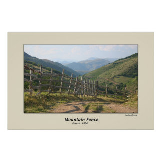 Mountain Fence Poster