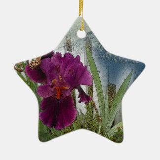 Mountain Flowers Ceramic Star Ornament
