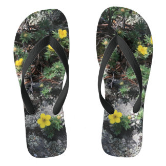 Mountain Flowers Flip Flops