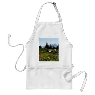 Mountain flowers in bloom, British Columbia, Canad Aprons