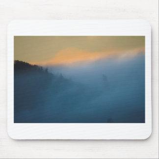 Mountain Fog Sunset Mouse Pad