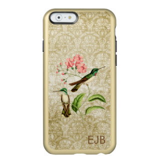 Mountain Gem Hummingbird Damask Monogrammed Incipio Feather® Shine iPhone 6 Case