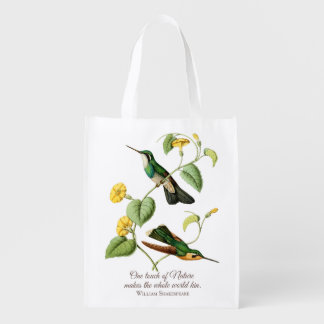 Mountain Gem Hummingbird Grocery Bag