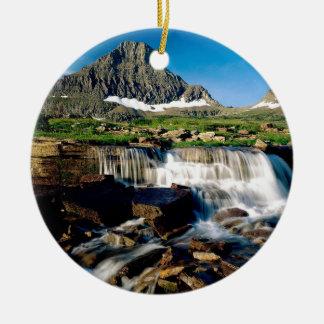 Mountain Glacier Park Montana Ceramic Ornament