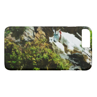Mountain Goat and Baby Abstract Impressionism iPhone 7 Plus Case