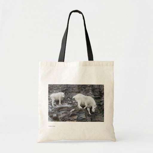 Mountain Goat Budget Tote Bag
