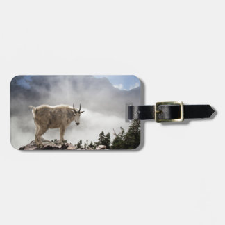 Mountain Goat in Glacier National Park Luggage Tag