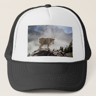 Mountain Goat on Gunsight Pass Trail Trucker Hat