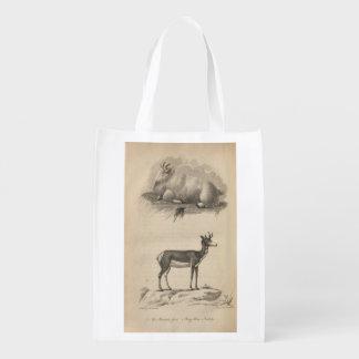 Mountain Goat & Prong Horn Reusable Grocery Bags