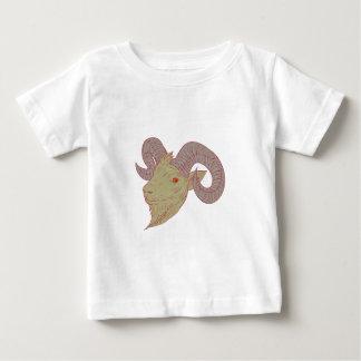 Mountain Goat Ram Head Drawing Baby T-Shirt
