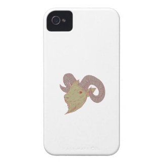 Mountain Goat Ram Head Drawing Case-Mate iPhone 4 Case