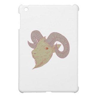 Mountain Goat Ram Head Drawing iPad Mini Cover