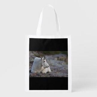 Mountain goat reusable grocery bag