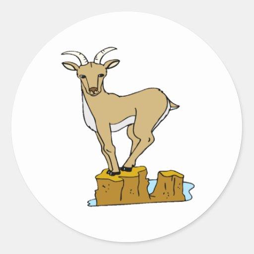 Mountain Goat Round Sticker