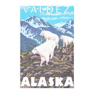 Mountain Goats Scene - Valdez, Alaska Canvas Print