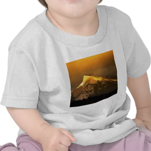Mountain Golden Peaks Of Rundle Banff National Tshirts