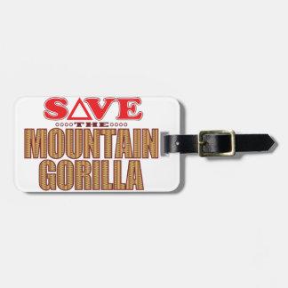 Mountain Gorilla Save Bag Tag