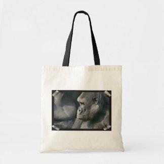 Mountain Gorilla Small Canvas Tote Bag