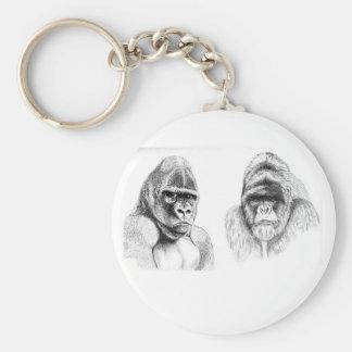 Mountain Gorilla wildlife key ring