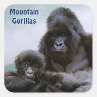 Mountain Gorillas African Wildlife Sticker