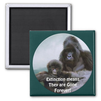 Mountain Gorillas Primate Wildlife Art Magnet