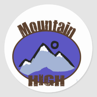 Mountain High Classic Round Sticker