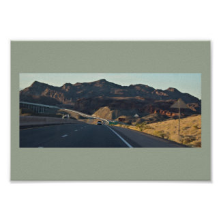 Mountain Highway View Poster