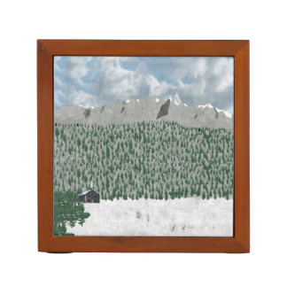 Mountain Home/Mountains and Lake Desk Organizer