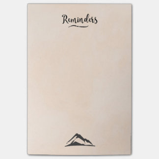 Mountain Illustration in Black - Reminders Post-it Notes