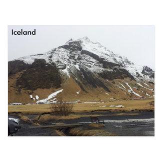 Mountain in Skógar, Iceland Postcard