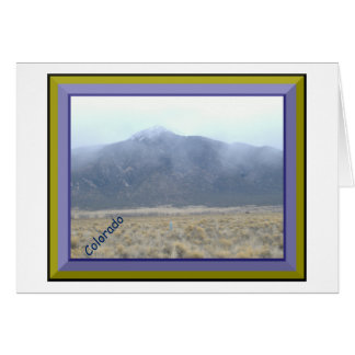 Mountain In The Clouds Greeting Card