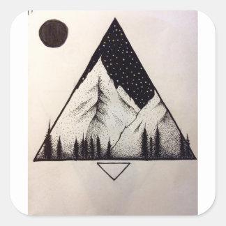 Mountain in the night sticker