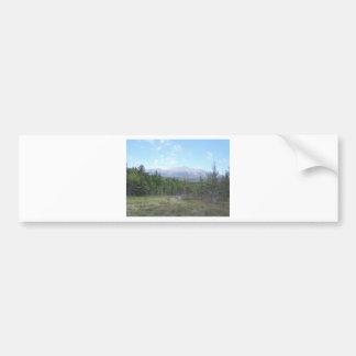 Mountain in the woods bumper sticker