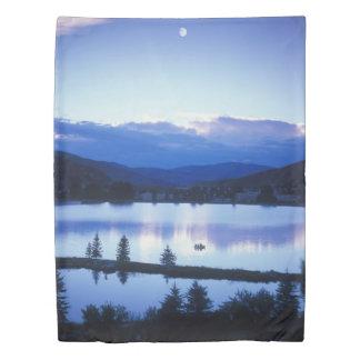 Mountain Lake (1 side) Twin Duvet Cover