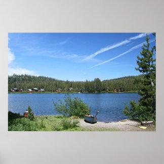 Mountain Lake, Canoes Poster