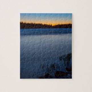 Mountain Lake Glow Jigsaw Puzzle