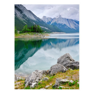 Mountain lake in Jasper National Park Postcard