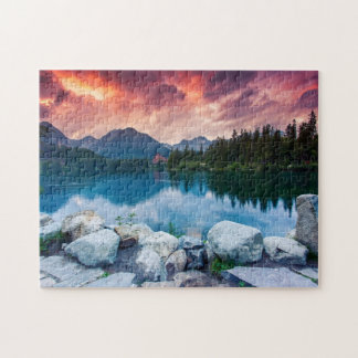 Mountain lake in National Park High Tatra 2 Puzzle