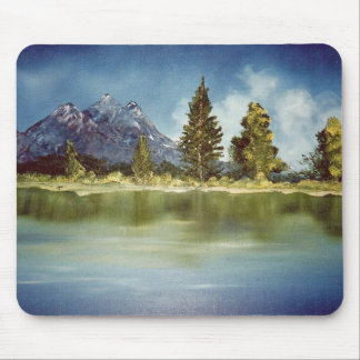 mountain lake mouse pad