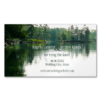 Mountain Lake save the date magnet Magnetic Business Card