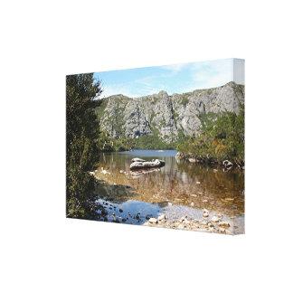 Mountain lake, Tasmania, Australia Canvas Print