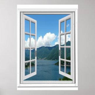 fake window posters zazzle canada. Black Bedroom Furniture Sets. Home Design Ideas