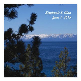 Mountain Lake Wedding Invitation