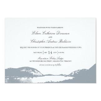 "Mountain Lake | Wedding 5"" X 7"" Invitation Card"