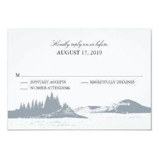 "Mountain Lake  | Wedding RSVP 3.5"" X 5"" Invitation Card"