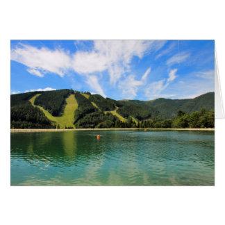 Mountain Lakes Reflection Card