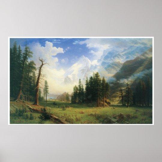 Mountain Landscape, 1895, Albert Bierstadt Poster