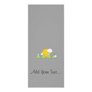 """Mountain landscape 4"""" x 9.25"""" invitation card"""