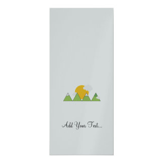 "Mountain landscape 4"" x 9.25"" invitation card"