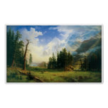 Mountain Landscape by Albert Bierstadt Poster